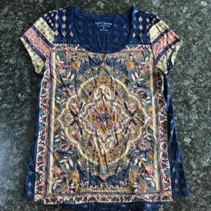 NWOT Lucky Brand featherweight tee in small